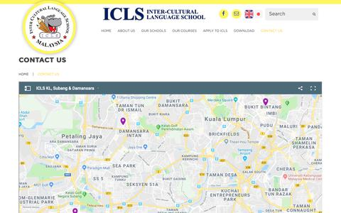 Screenshot of Contact Page icls.com.my - Contact Us | ICLS - captured Oct. 2, 2018