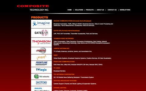 Screenshot of Products Page composite.com.ph - Composite Technology Inc. - captured Oct. 2, 2014