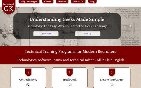 Screenshot of Signup Page geekology.biz - Geekology Technical Recruiting Training - captured July 20, 2015