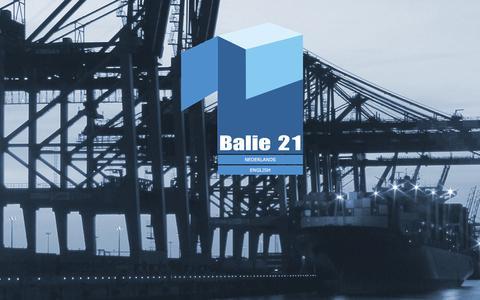 Screenshot of Home Page balie21.be - Balie 21 - captured Feb. 7, 2016