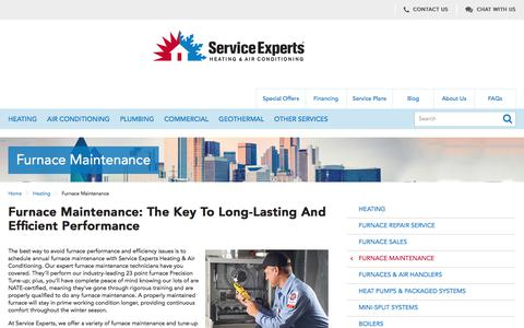 Furnace Maintenance in North America | Service Experts