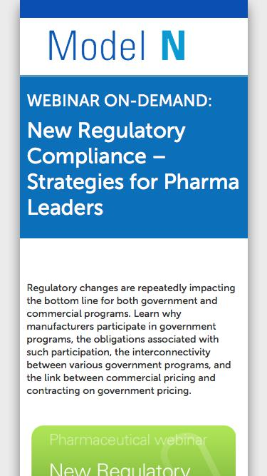 New Regulatory Compliance – Strategies for Pharma Leaders