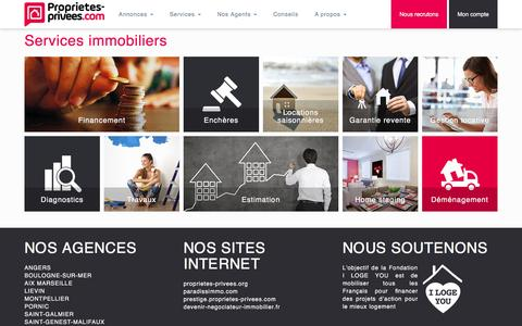 Screenshot of Services Page proprietes-privees.com - Services immobiliers - captured May 23, 2017