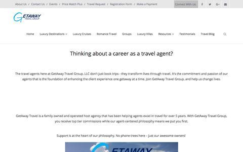 Screenshot of Jobs Page getawaytravelgroup.com - Careers | GetAway Travel Group - captured July 18, 2018
