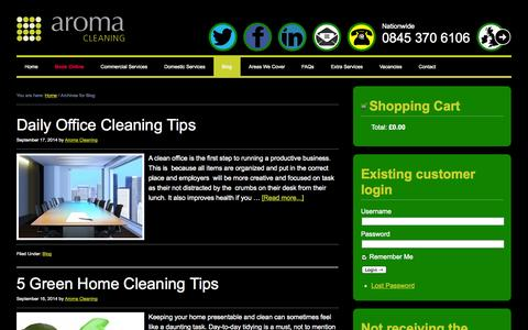 Screenshot of Blog aromacleaning.co.uk - Blog Archives - - captured Oct. 4, 2014