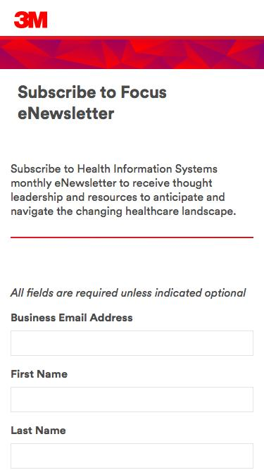 Subscribe to Focus eNewsletter - Health Information Systems