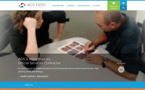Screenshot of About Page ags-expo.com - About Us | AGS Exposition Services - captured Nov. 2, 2014