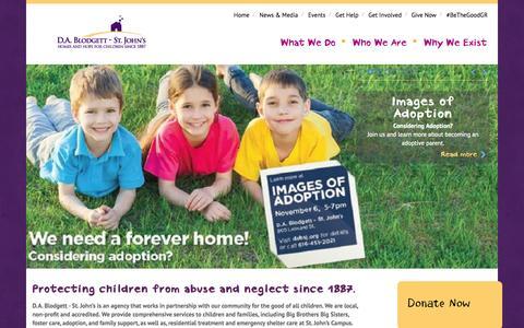 Screenshot of Home Page dabsj.org - D.A. Blodgett - St. Johns - captured Oct. 1, 2014
