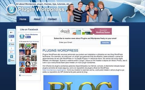 Screenshot of Home Page plugin-wp.net - Plugins Wordpress - captured Sept. 22, 2014