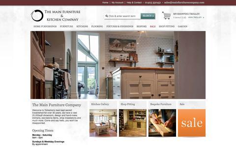 Screenshot of Home Page mainfurniturecompany.com - The Main Furniture & Kitchen Company - Main Furniture Company - captured Oct. 9, 2014