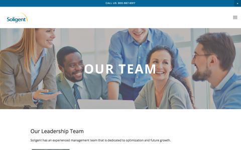 Screenshot of Team Page soligent.net - Our Team — Soligent - captured Sept. 21, 2018