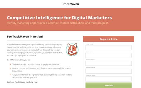 Competitive Intelligence for Digital Marketers | TrackMaven