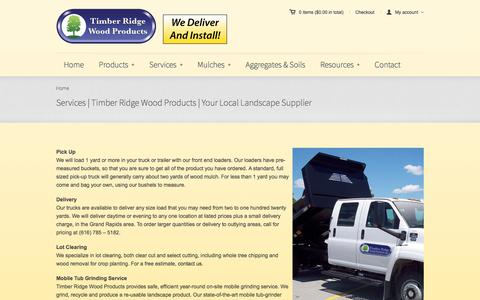 Screenshot of Services Page timberridgewoodproducts.com - Services | Timber Ridge Wood Products | Your Local Landscape SupplierTimber Ridge Wood Products - captured June 17, 2017