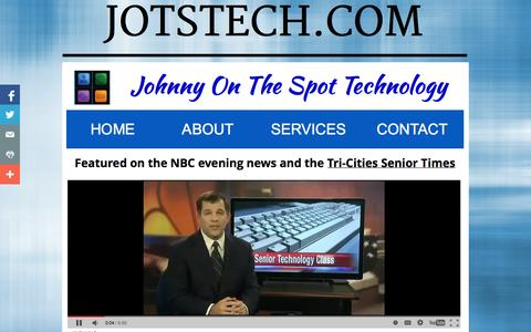 Screenshot of About Page jotstech.com - About - captured Oct. 3, 2014