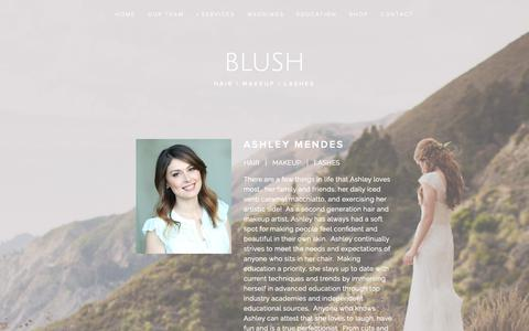 Screenshot of Team Page blushhmd.com - Our Team — blush - captured Feb. 14, 2019