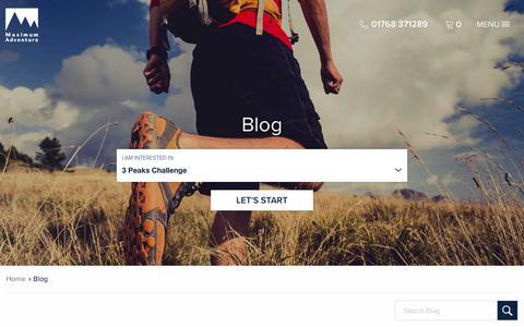 Screenshot of Blog maximumadventure.com - Maximum Adventure :: Blog - captured Sept. 20, 2018