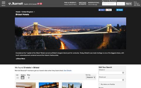 Find Bristol Hotels by Marriott