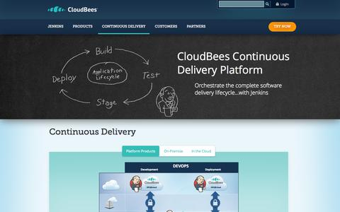 Screenshot of Products Page cloudbees.com - Continuous Delivery | CloudBees - captured Oct. 10, 2014