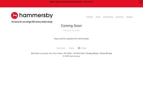 Screenshot of Blog hammersby.com - Blog — Hammersby - captured Oct. 23, 2016