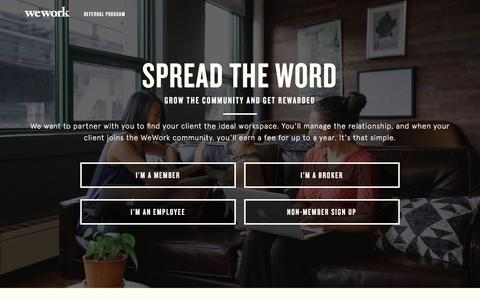 WeWork Referral