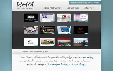 Screenshot of Home Page reedhewitt.com - Reed Hewitt Media - captured Oct. 8, 2014