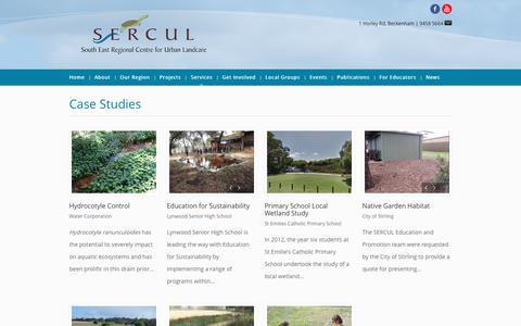 Screenshot of Case Studies Page sercul.org.au - SERCUL | Case Studies - captured March 13, 2017