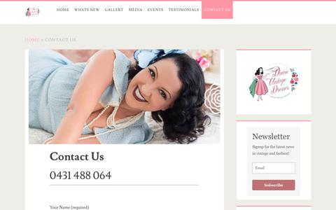 Screenshot of Contact Page divinevintagedresses.com - Divine Vintage Dresses | Contact Us - captured June 14, 2019