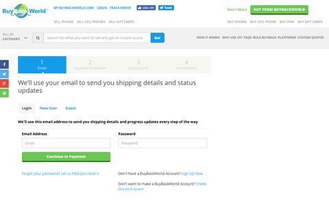 Screenshot of Login Page buybackworld.com - Login to Your BuyBackWorld Account   BuyBackWorld Account Login - captured Aug. 19, 2019