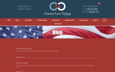 Screenshot of Blog guerralawgroup.com - Guerra Law Group P.L.L.C. Blog | McAllen TX - captured Nov. 16, 2016