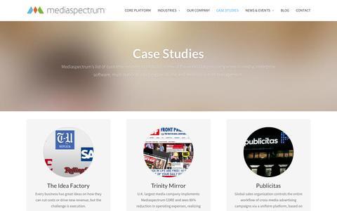 Screenshot of Case Studies Page mediaspectrum.net - Case Studies - Mediaspectrum - captured Nov. 3, 2014