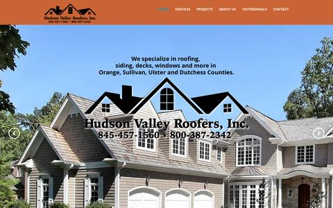 Screenshot of Home Page hvroofers.com - Hudson Valley Roofers - HVRoofers.com - captured Feb. 1, 2016