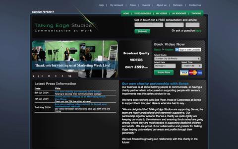 Screenshot of Press Page talkingedgestudios.com - Talking Edge Studios  - Read the latest News and Press Information from Talking Edge Studios - captured Oct. 6, 2014