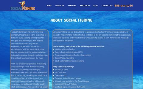 Screenshot of About Page socialfishing.net - Social Fishing |   About Us - captured Nov. 7, 2018