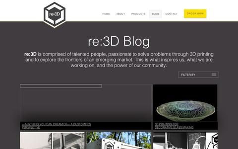 Screenshot of Blog re3d.org - re:3D | 3D Printing with Purpose - captured Sept. 10, 2014