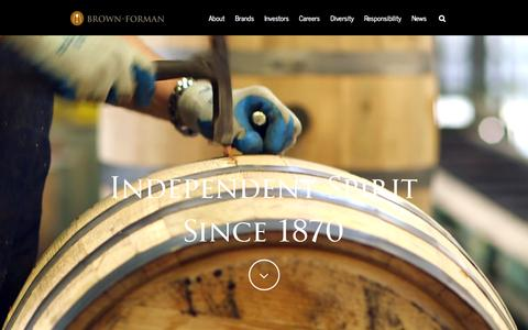 Screenshot of Home Page brown-forman.com - Brown-Forman - captured Sept. 6, 2015