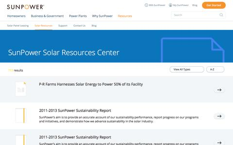 Solar Resources Download Center | SunPower