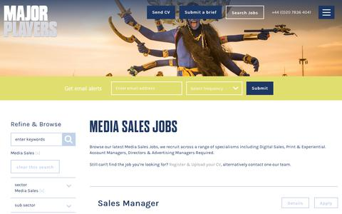 Media Sales Jobs in London: Major Players - Creative, Media Sales & Digital Jobs