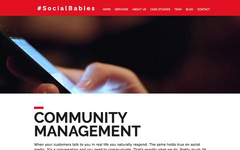 Screenshot of Team Page social-babies.com - Social Babies - Community Management - captured Dec. 18, 2016