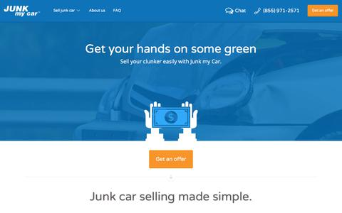 Screenshot of Home Page junkmycar.com - Sell Your Junk Car Instantly   Junk my Car - captured Sept. 20, 2018