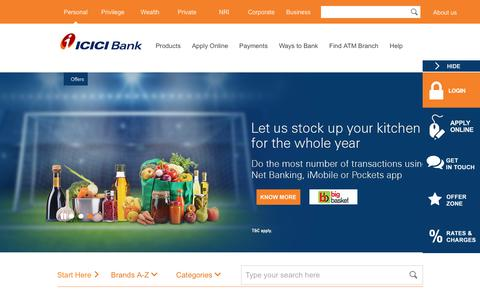 Screenshot of icicibank.com - Deals & Offers, Discount Coupons & Vouchers - ICICI Internet Banking - captured Nov. 28, 2017