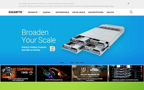 Screenshot of gigabyte.com - GIGABYTE Germany - captured Sept. 25, 2018