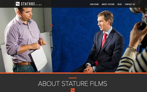 Screenshot of About Page staturefilms.com - About | Stature Films - captured Feb. 25, 2016