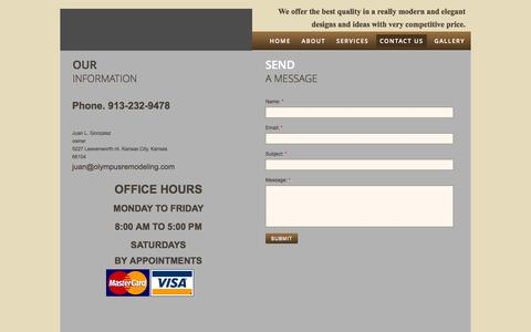 Screenshot of Privacy Page Contact Page olympusremodeling.com - Remodeling Companies in KC - captured Oct. 26, 2014