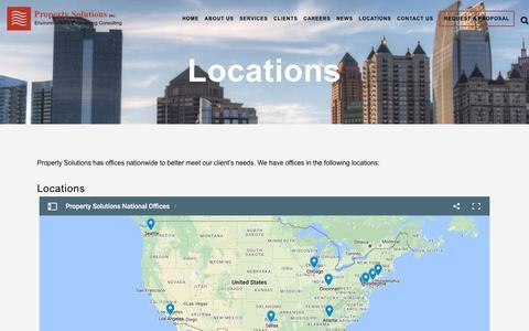 Screenshot of Locations Page propertysolutionsinc.com - Locations | Property Solutions Inc. - captured May 24, 2017
