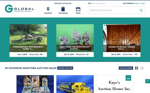 Screenshot of Home Page globalauctionguide.com - Global Auction Guide- Internet's leading resource for auction sale bills             online - captured Dec. 9, 2015