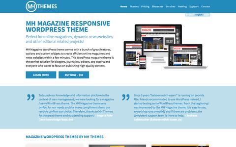 Screenshot of Home Page mhthemes.com - Premium Magazine WordPress Themes for Bloggers | MH Themes - captured May 26, 2017