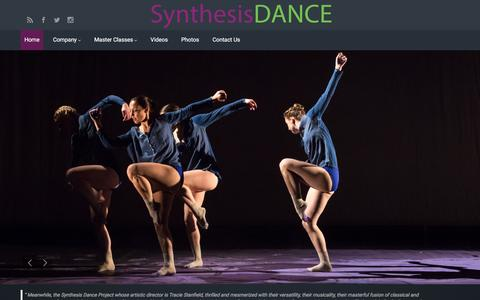 Screenshot of Home Page synthesisdance.org - Synthesis Dance – Contemporary Lyrical Concert Dance from NYC - captured Dec. 2, 2016