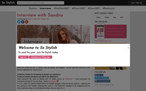 Screenshot of Blog so-stylish.com - So Stylish | Blog - captured Nov. 2, 2017