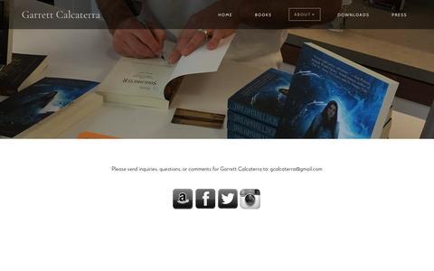 Screenshot of Contact Page garrettcalcaterra.com - Garrett Calcaterra - Contact - captured Oct. 23, 2018