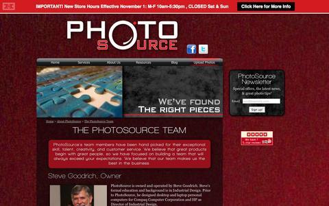Screenshot of Team Page photosource.com - PhotoSource - The PhotoSource Team - captured Nov. 2, 2014